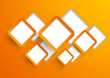 Background wit orange squares Royalty Free Stock Photos