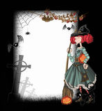 Background with a witch Royalty Free Stock Photography