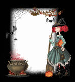 Background with a witch. For Halloween Stock Photography