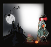 Background with a witch Stock Images