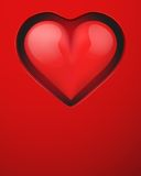 Background With Beautiful Realistic Heart. Royalty Free Stock Photography