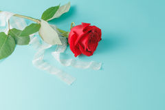 Free Background With Bouquet Of Roses And Ribbon Royalty Free Stock Image - 64754946
