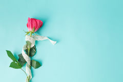 Free Background With Bouquet Of Roses And Ribbon Stock Photos - 64755013