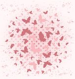 Background With Butterflies. Royalty Free Stock Photo