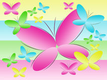 Background With Colour Butterflies Royalty Free Stock Photo