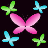 Background With Colour Butterflies Royalty Free Stock Photography