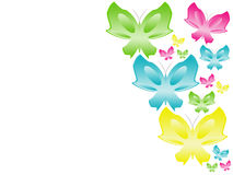 Background With Colour Butterflies Stock Photography