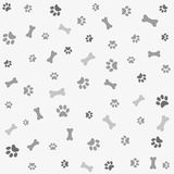 Background With Dog Paw Print And Bone Stock Image