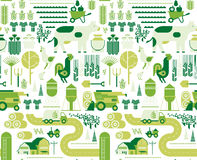 Background With Farming Silhouettes Royalty Free Stock Images