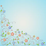 Background With Flowers Stock Image