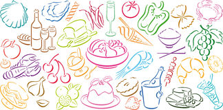 Background With Food Symbols Stock Photography