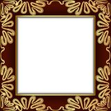 Background With Gold Lace And Place For Text Stock Photography