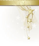 Background With Golden Stars Royalty Free Stock Photos