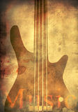 Background With Guitar Royalty Free Stock Images