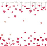 Background With Heart. Vector Illustration Stock Photo