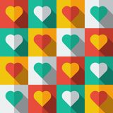 Background With Hearts In Flat Icon Style Royalty Free Stock Images