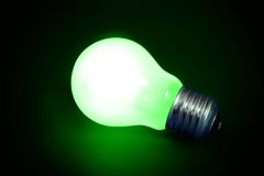 Free Background With Lit Lightbulb Stock Images - 4479274