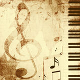 Background With Musical Symbols Royalty Free Stock Image
