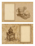 Background With Pencil Drawings Stock Photo