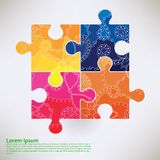 Background With Puzzle Transition Colors Stock Photos