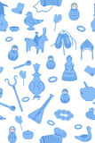 Background With Russian Utensils Royalty Free Stock Image