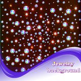 Background With Shiny Precious Stones And Place For Text Stock Photography