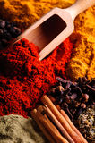 Background With Spices Royalty Free Stock Photo