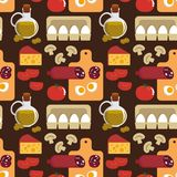 Background With The Products For Pizza Royalty Free Stock Photos