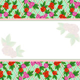Background With Trellis Roses Royalty Free Stock Image