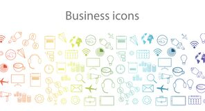 Free Background With Various Icons On A Business Theme In Gradient Royalty Free Stock Photo - 182820685