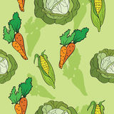 Background With Vegetables Stock Photography