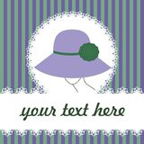 Background With Woman In Hat Royalty Free Stock Images