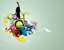 Background woman illustration Royalty Free Stock Image