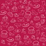 Background of women accessories. Seamless Vector pattern. Stock Photo
