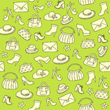 Background of women accessories. Seamless Vector pattern. Royalty Free Stock Photography