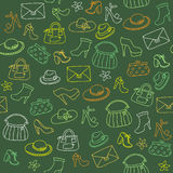 Background of women accessories. Seamless Vector pattern. Royalty Free Stock Images