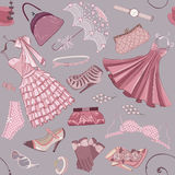 Background with women's clothing Royalty Free Stock Images