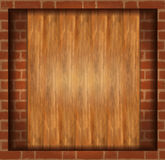 Background wood brick wall Royalty Free Stock Photos
