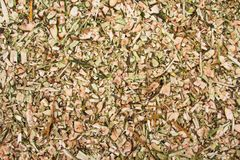 Background of wood chips close-up stock photography