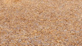 Background of wood chips covering the ground at a playground stock photography