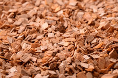 Background of wood chips Royalty Free Stock Photo