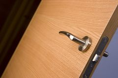 Background wood door lock house Stock Image