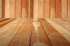 Background. Wood floors as wallpaper Stock Photo
