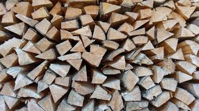 Background pattern of wood logs stock images