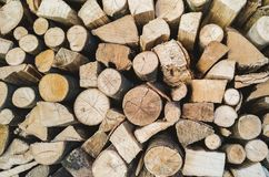 Background with wood piled. Up and ready to be burnt stock photos