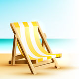 Background with wooden beach chair Stock Image