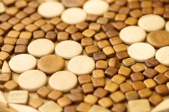 Background of wooden beads Stock Photo
