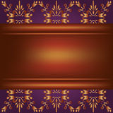 Background with wooden board and ornament Royalty Free Stock Image