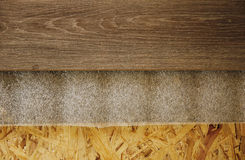 Background of wooden boards and laminate Stock Photography