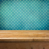 Background with wooden deck table Stock Photo